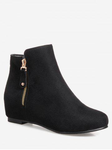 Plus Size Solid Color Suede Ankle Boots