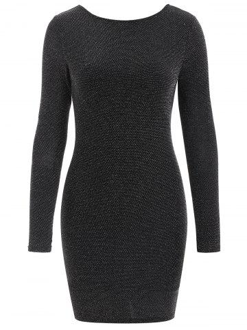 Black Long Sleeve Backless Bodycon Dress Free Shipping Discount