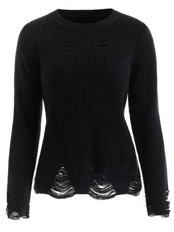 Ribbed Distressed Sweater