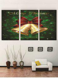 Unframed Merry Christmas Bell Print Canvas Paintings -