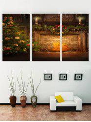 Unframed Christmas Fireplace Print Canvas Paintings -