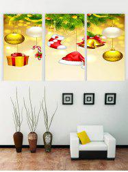 Unframed Christmas Bells Gift Hat Printed Canvas Paintings -