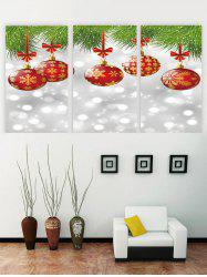 Unframed Christmas Snowflake Ball Canvas Paintings -