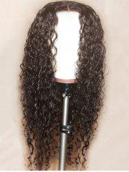 Long Center Parting Curly Lace Front Synthetic Wig -