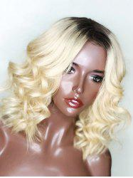 Medium Center Parting Ombre Wavy Lace Front Synthetic Wig -