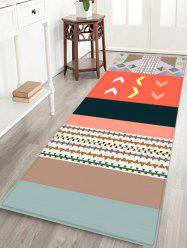 Contrast Pattern Water Absorption Area Rug -