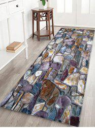 Stones Wall Pattern Water Absorption Area Rug -