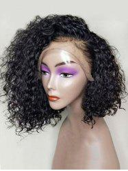 Medium Side Bang Curly Lace Front Synthetic Wig -