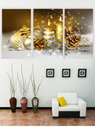 Unframed Christmas Candle Print Canvas Paintings -