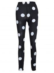 Polka Dot Print Leggings -