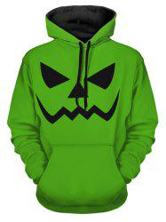 Halloween Scary Smile Print Pullover Hoodie -