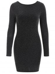Long Sleeve Sparkly Bodycon Dress -