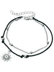 Vintage Metal Sun Foot Jewelry Anklet Chain -