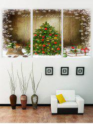 Unframed Merry Christmas Tree Snowflake Print Canvas Paintings -