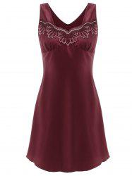 Lace Insert Sleeveless Sleeping Dress -