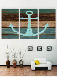 Unframed Anchor Wooden Pattern Canvas Paintings -