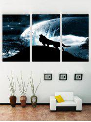 Unframed Sky Wolf Print Canvas Paintings -