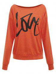 Love Print Sweatshirt -