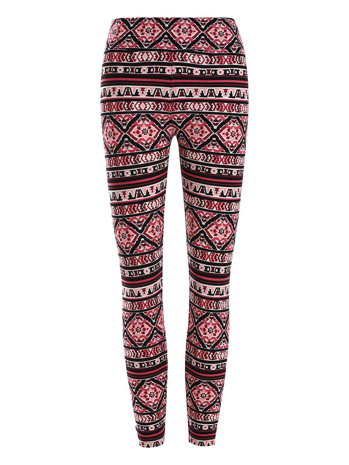 Chic High Waisted Geometric Patterned Leggings