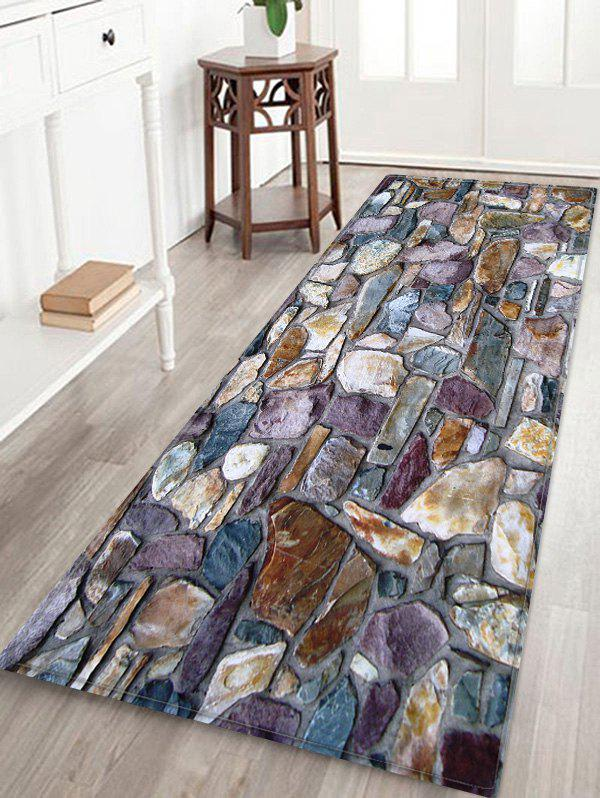 Hot Stones Wall Pattern Water Absorption Area Rug