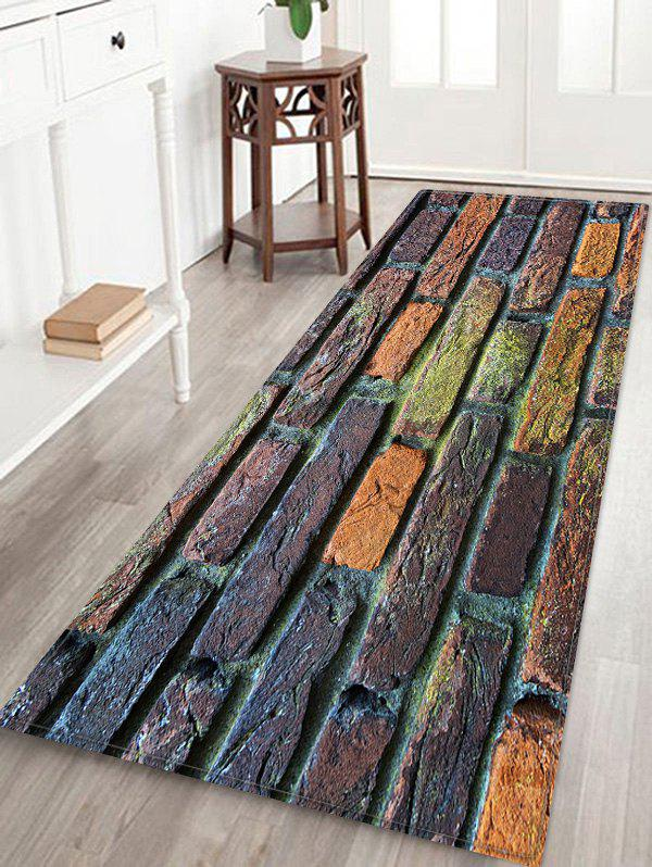 Chic Brick Wall Pattern Water Absorption Area Rug