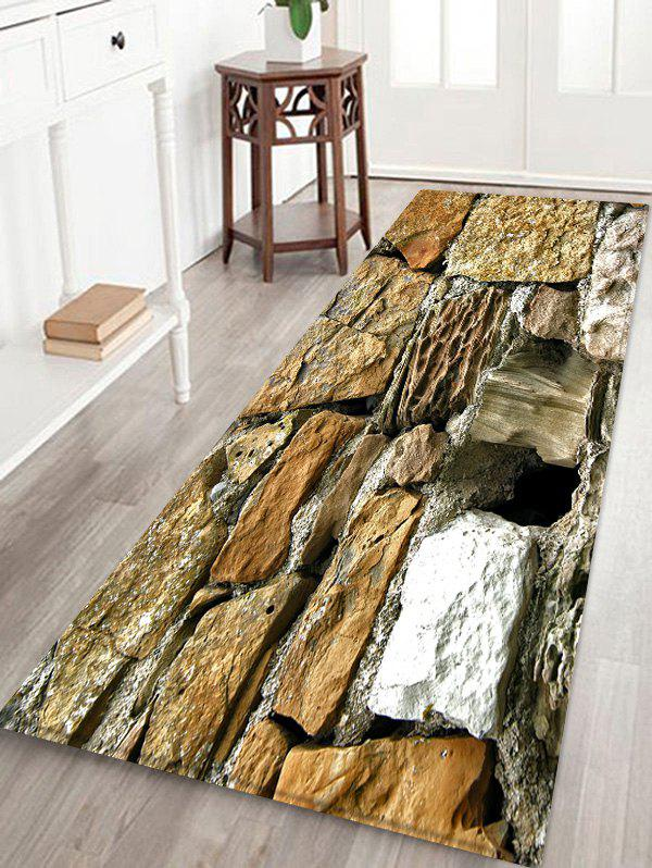 Affordable Stone Brick Pattern Water Absorption Area Rug