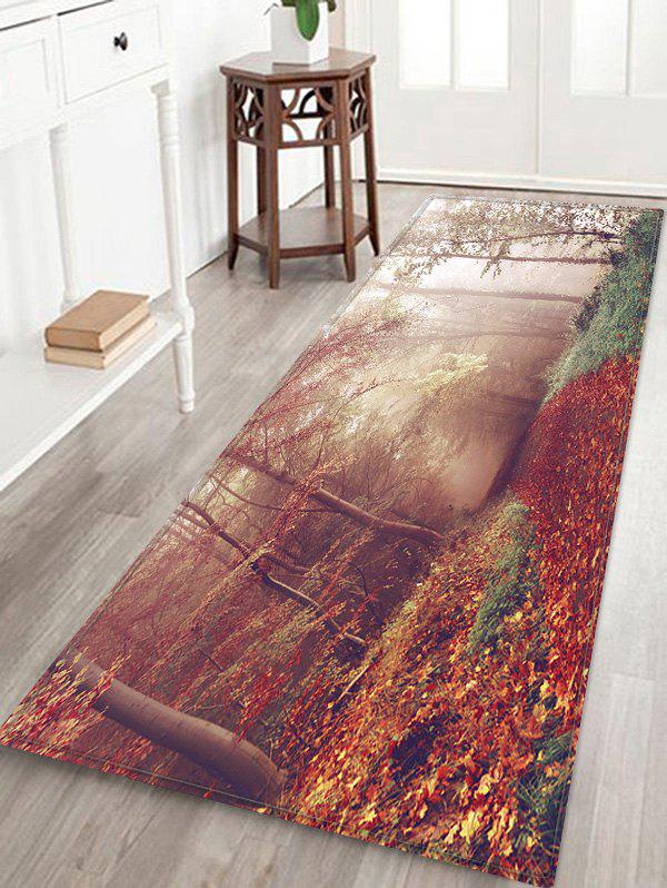 Maple Forest Path Pattern Water Absorption Area Rug