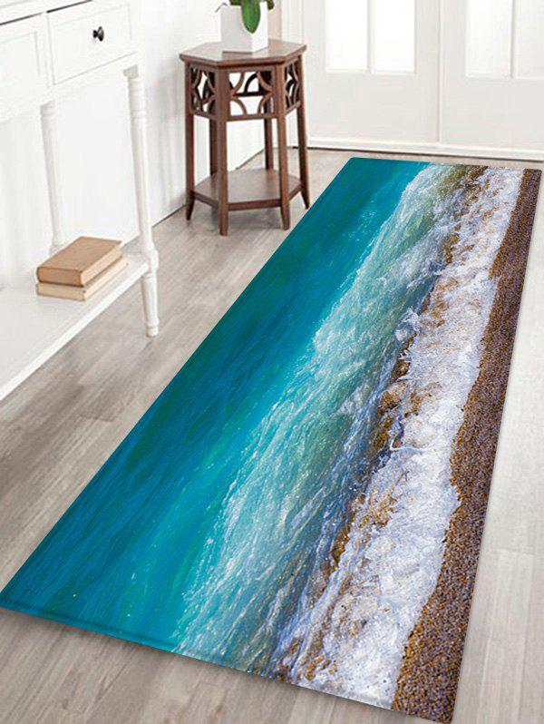 Sand Beach Wave Pattern Water Absorption Area Rug