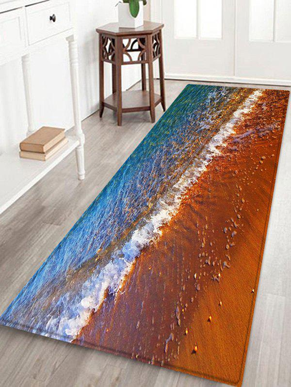 Outfit Beach Ocean Wave Pattern Water Absorption Area Rug