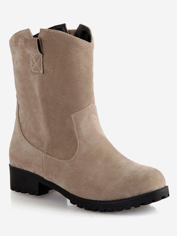 Outfit Plus Size Slip-on Flat Short Boots