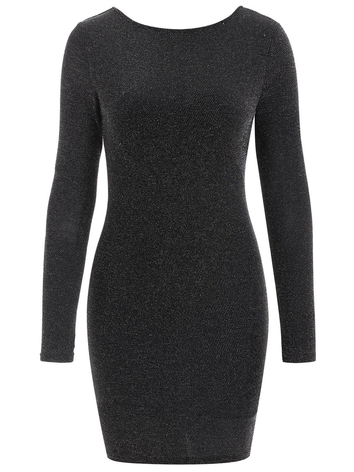 Online Long Sleeve Sparkly Bodycon Dress
