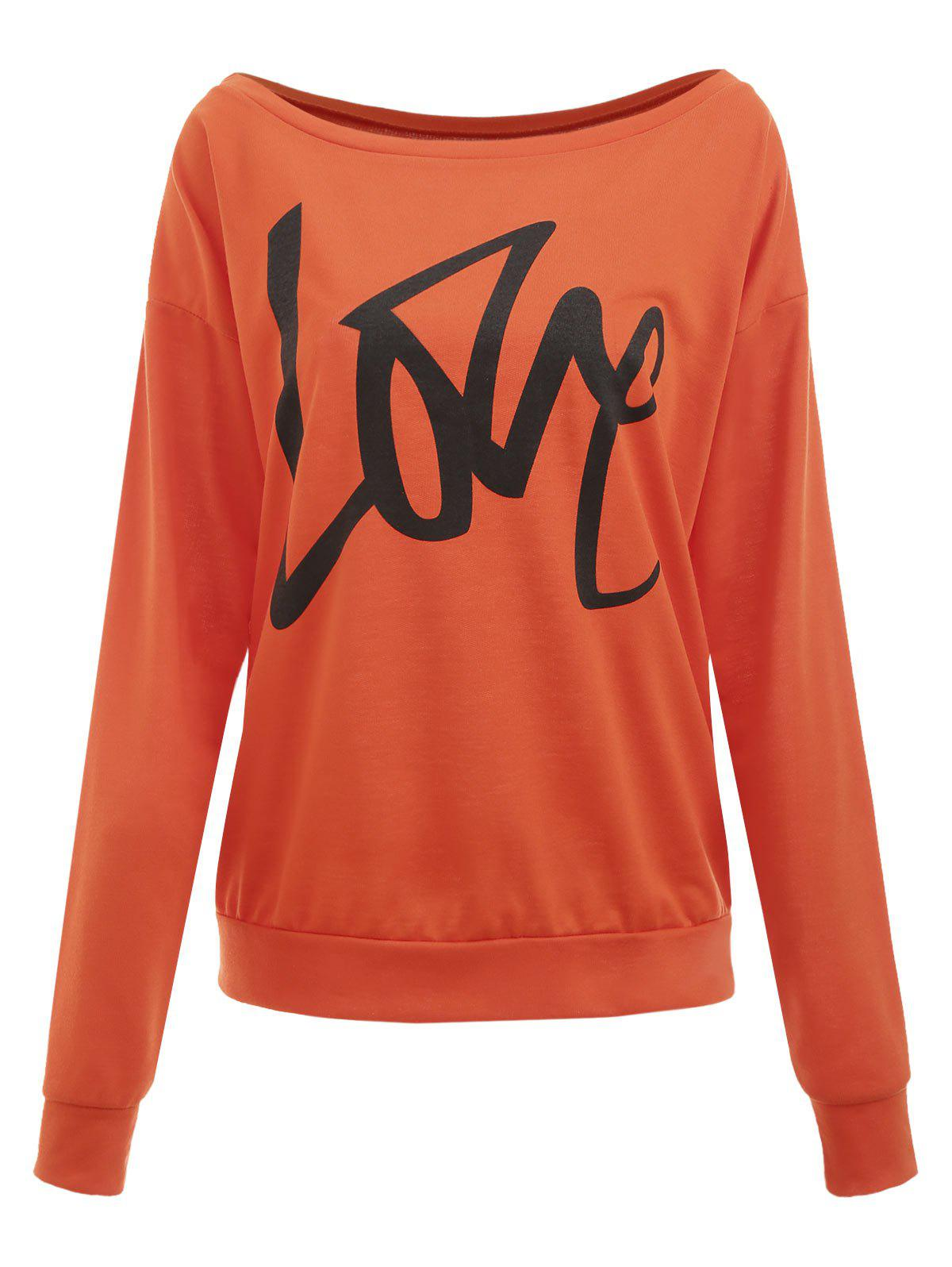 Sweat-shirt Love Imprimé