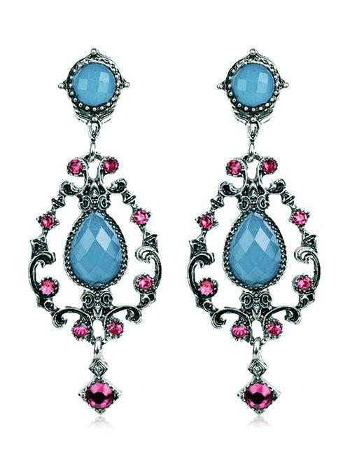 Cheap Bohemian Water Drop Rhinestone Earrings