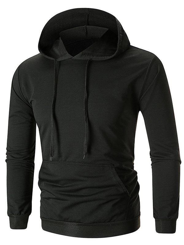 Store Drawstring Solid Color Long Sleeve Hoodie