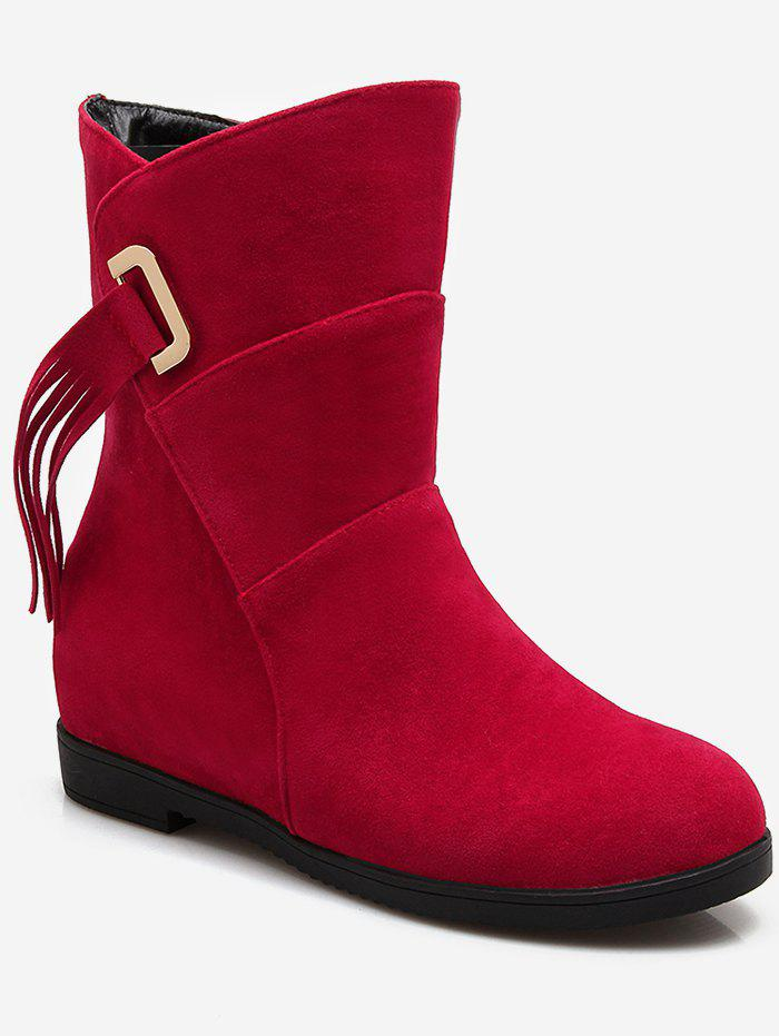 New Plus Size Tassels Flat Suede Short Boots
