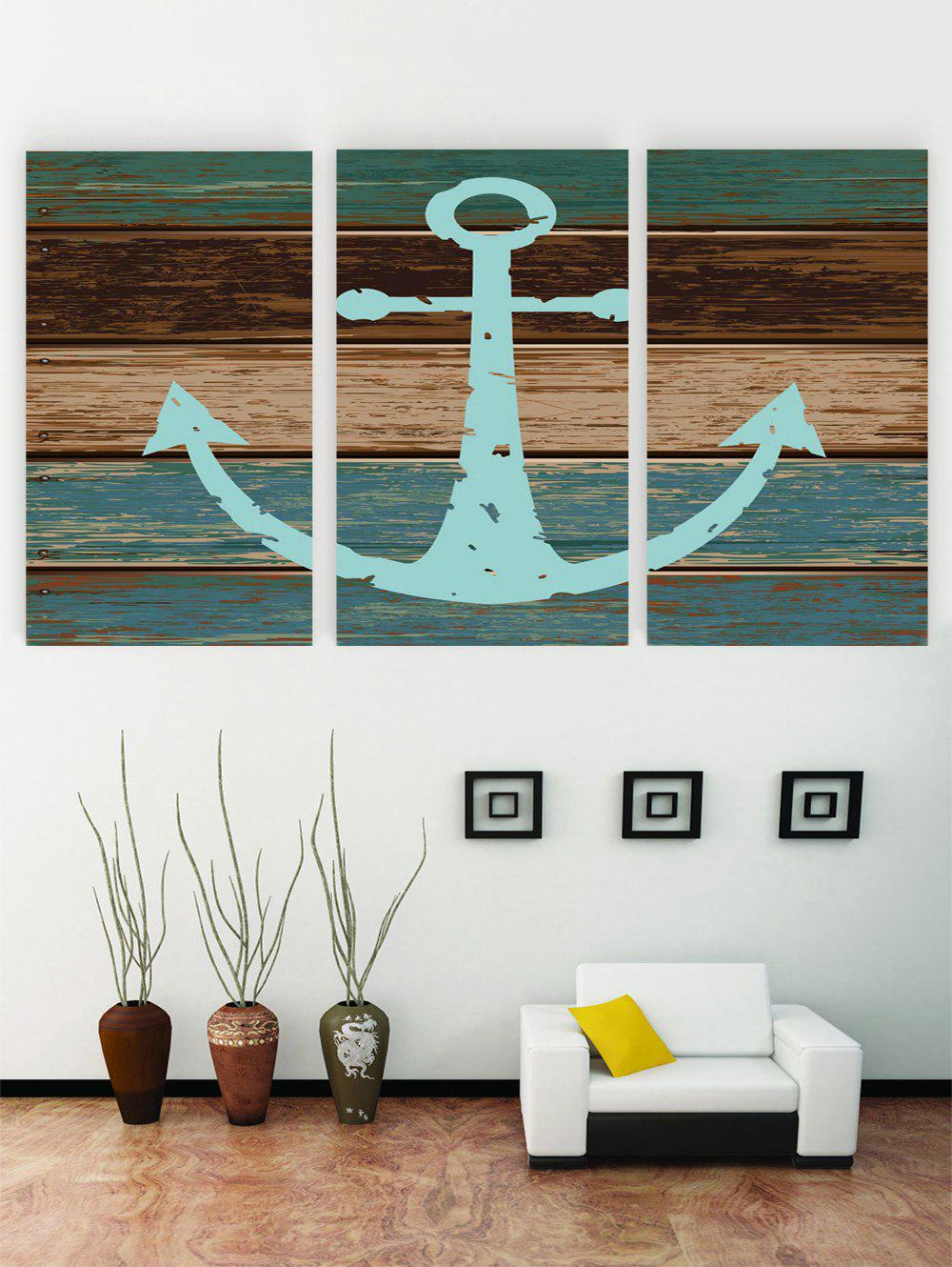 Fancy Unframed Anchor Wooden Pattern Canvas Paintings