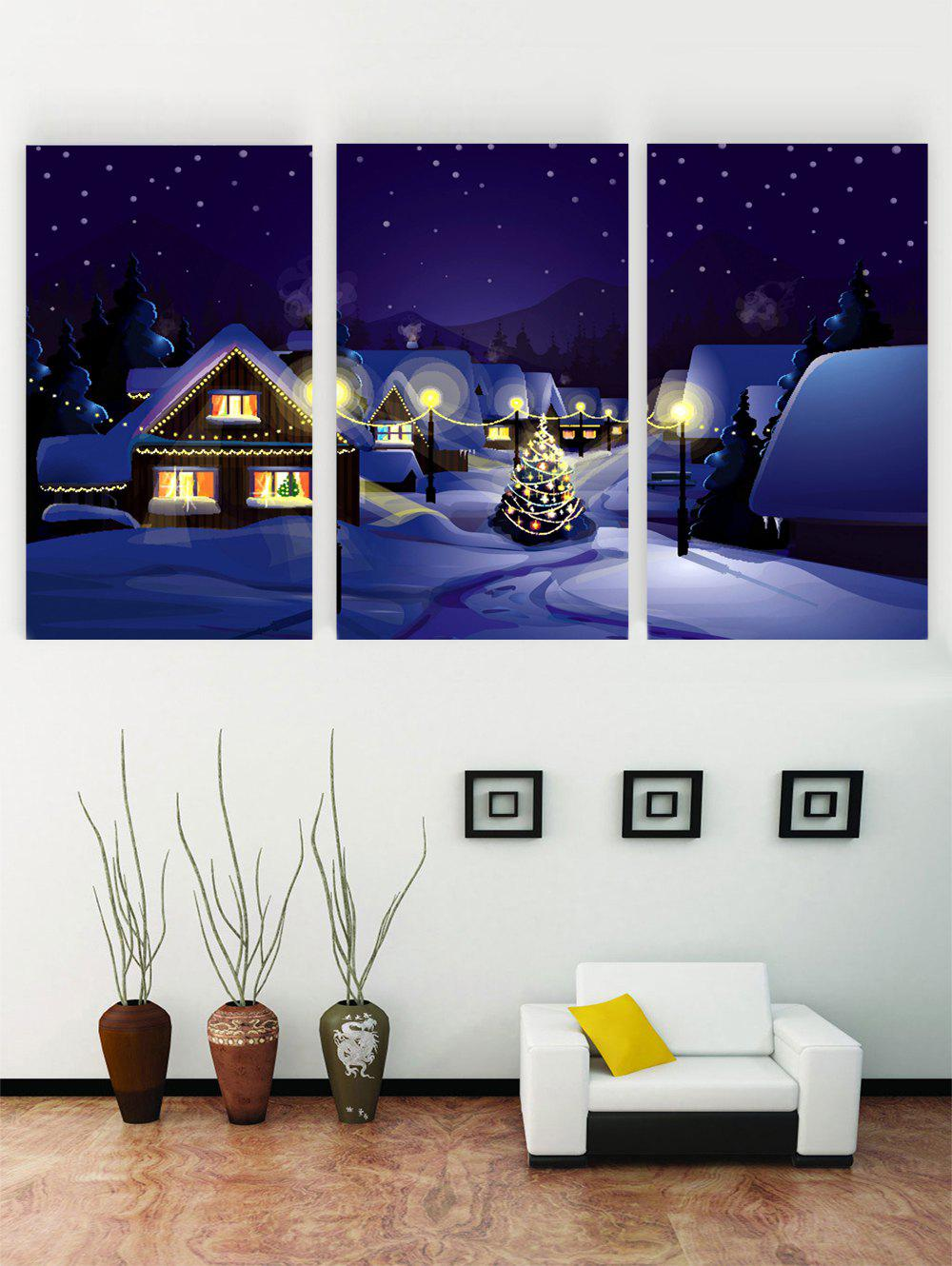 New Unframed Snow Night Print Canvas Paintings