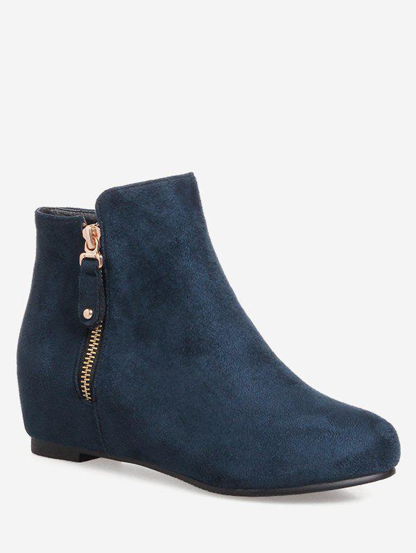 Shops Plus Size Solid Color Suede Ankle Boots