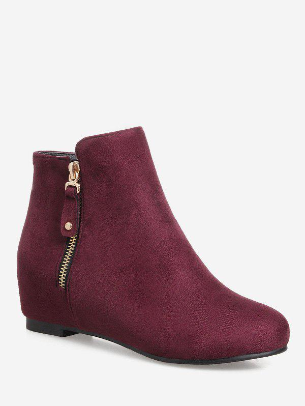 Store Plus Size Solid Color Suede Ankle Boots