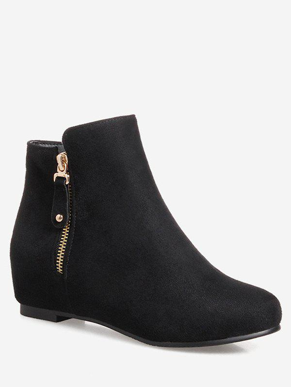 Sale Plus Size Solid Color Suede Ankle Boots