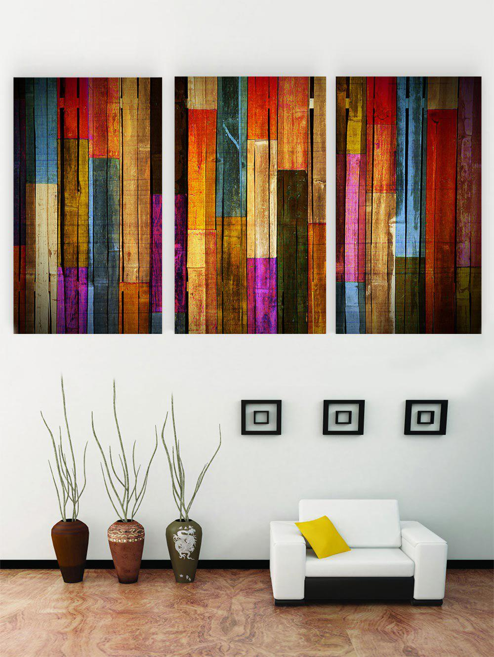 Shops Unframed Colorful Wooden Print Canvas Paintings