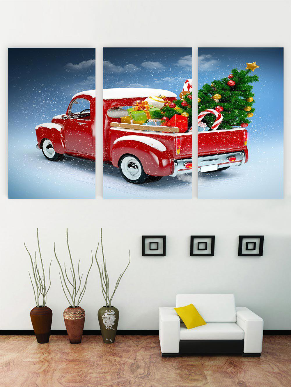 Trendy Unframed Christmas Gift Car Canvas Paintings