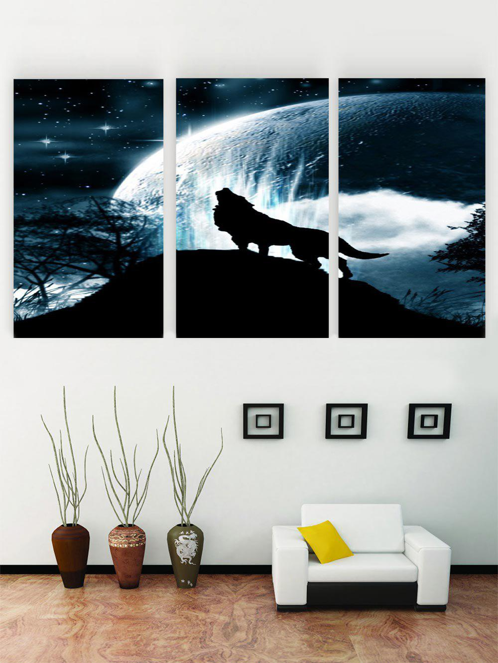 Unique Unframed Sky Wolf Print Canvas Paintings
