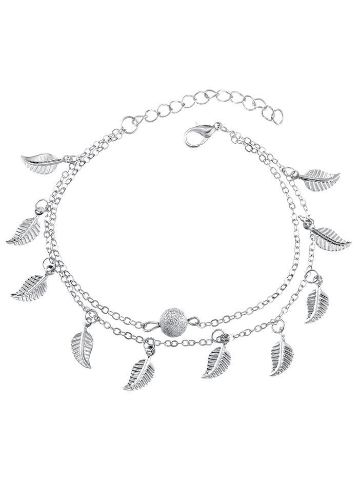 Chic Vintage Double Layer Metal Leaf Ankle Bracelet