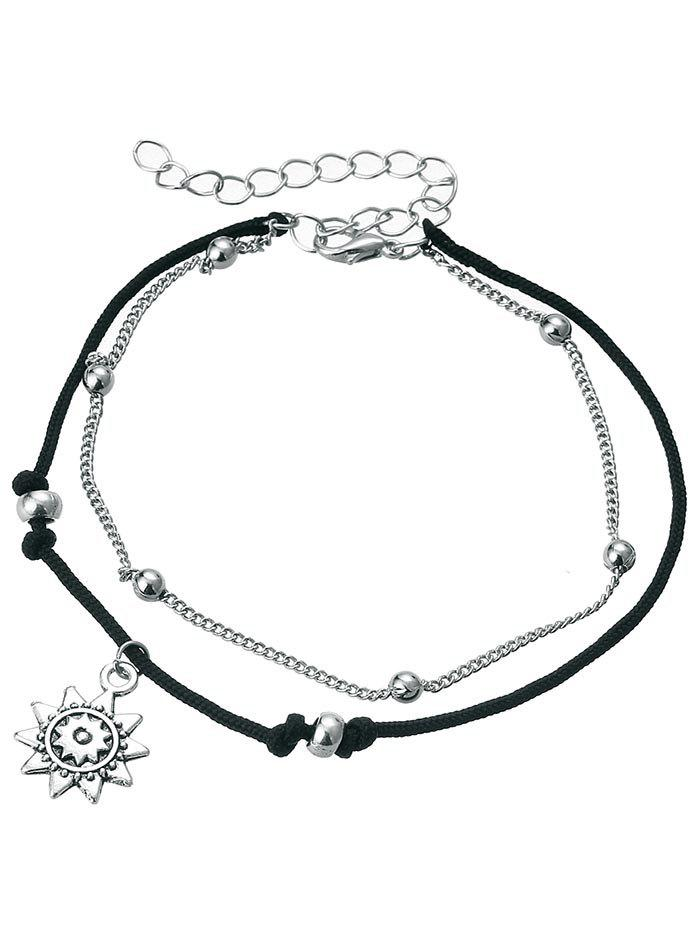 Outfit Vintage Metal Sun Foot Jewelry Anklet Chain