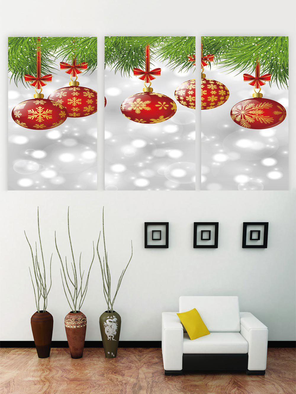 Fancy Unframed Christmas Snowflake Ball Canvas Paintings