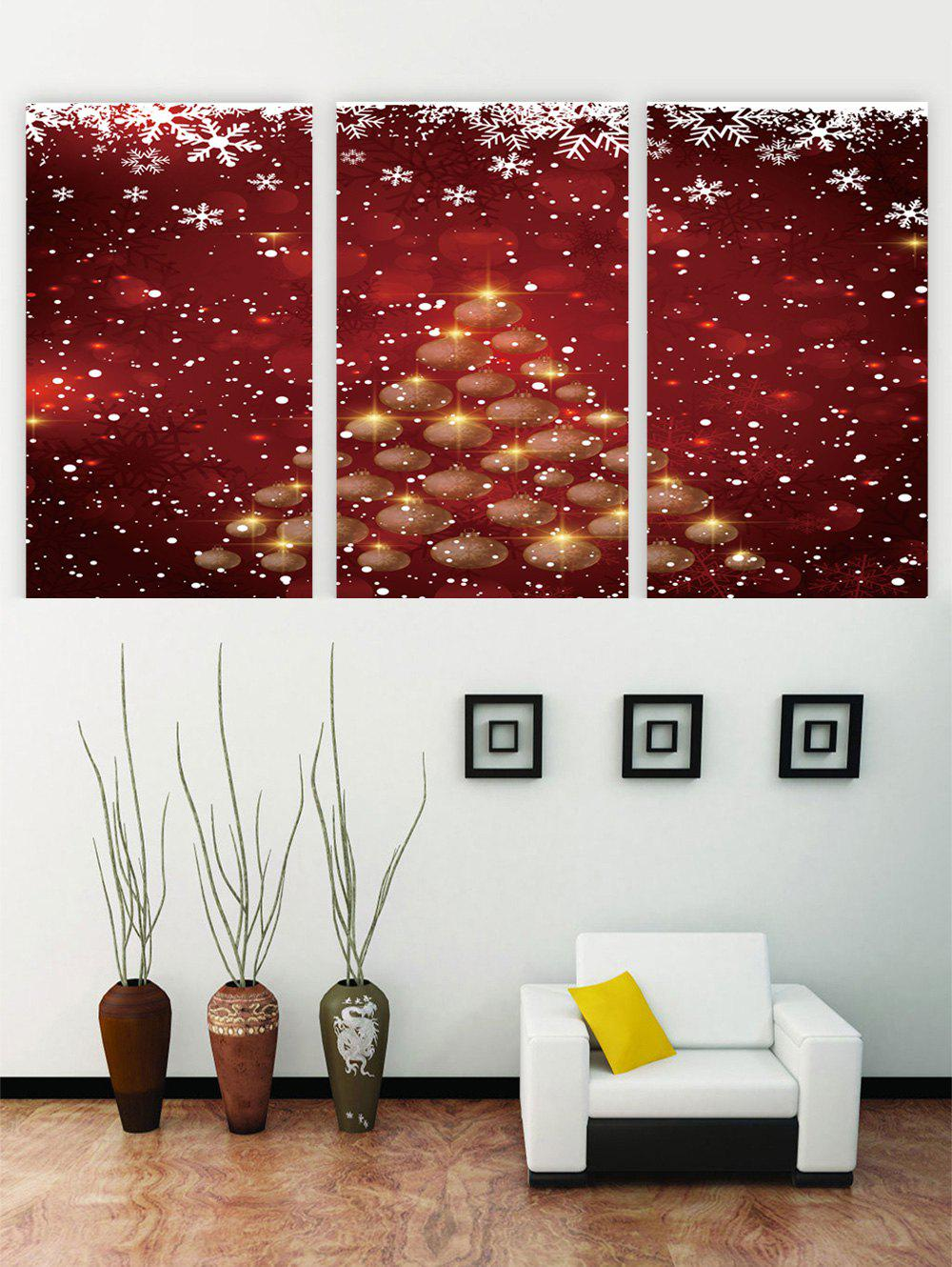 Affordable Unframed Christmas Snowflake Printed Canvas Paintings