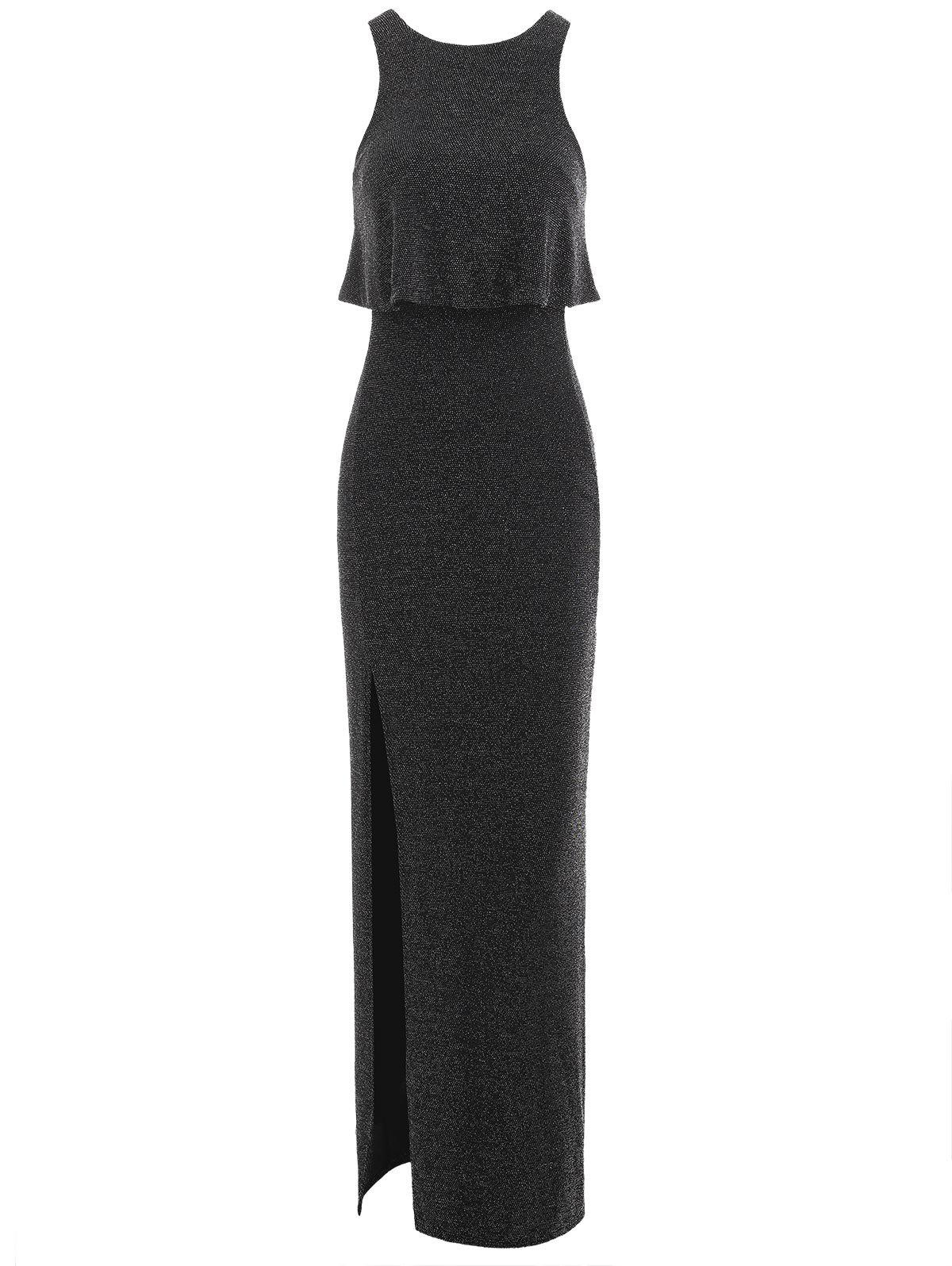 Sale High Slit Sparkly Maxi Dress