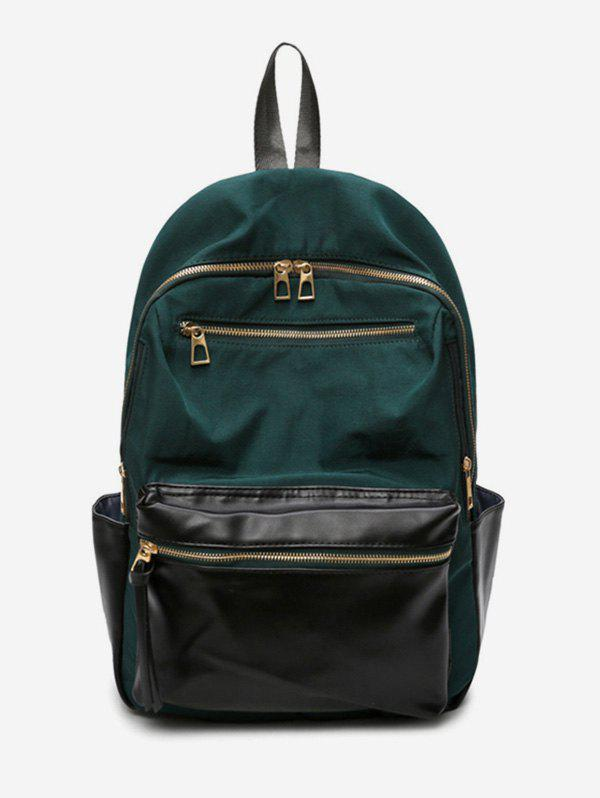 Latest Zip Pocket Contrast Color Travel Backpack