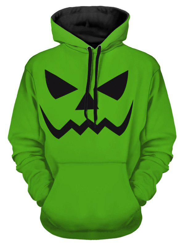 Online Halloween Scary Smile Print Pullover Hoodie